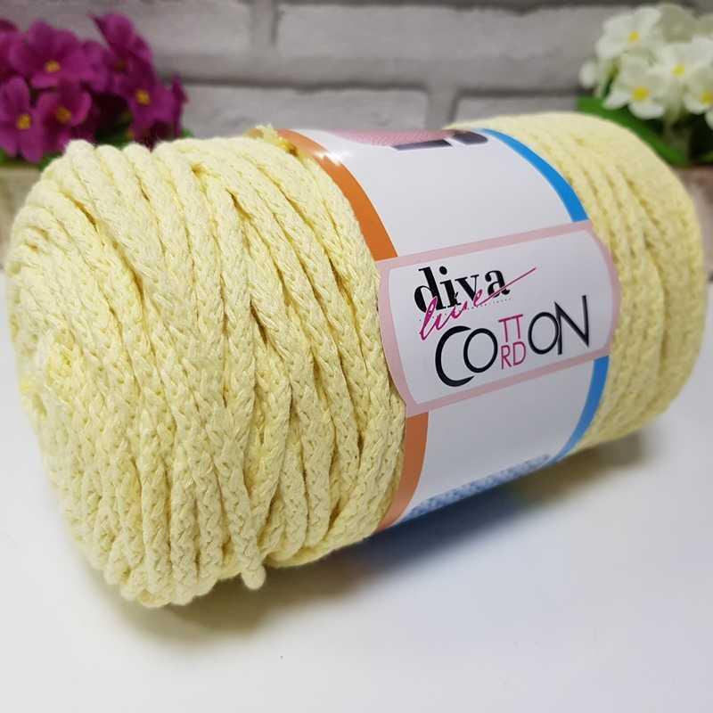 DIVA COTTON CORDON - 1002 SOFT YELLOW