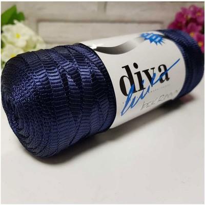 DIVA RIBBON ΜΕΤΑΞΩΤΟ - 02 NAVY BLUE
