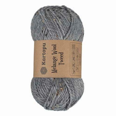 KARTOPU MELANGE WOOL TWEED - M1412